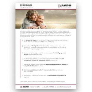 Checkliste altersgerechtes Wohnen